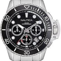 Nautica Steel 45mm Quartz NAPBSC906 new