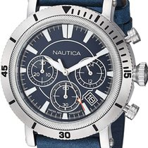 Nautica Steel 44mm Quartz NAPFMT002 new