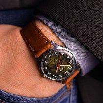 Vostok Stål 35mm Manuelt Olive Green Mid-Century Watch brugt