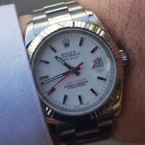 Rolex Datejust Turn-O-Graph occasion 36mm Blanc Date Acier