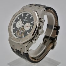 Audemars Piguet Royal Oak Tourbillon Tytan 44mm Czarny Bez cyfr