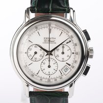Zenith El Primero Chronomaster pre-owned 40mm White Chronograph Date Leather