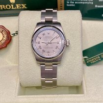 Rolex Oyster Perpetual 26 Steel 26mm Silver Roman numerals