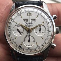 Wakmann Steel 37mm Manual winding Triple Date Calender Dato-Compax Chronograph pre-owned