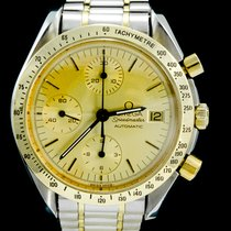 Omega Speedmaster Date 1750043 Very good Gold/Steel 39mm Automatic