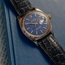 Rolex Datejust Oro rosado 36mm Azul Sin cifras