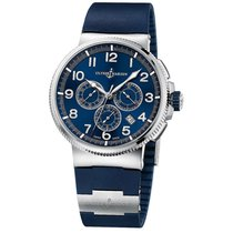 Ulysse Nardin pre-owned Automatic 43mm Blue Sapphire crystal 10 ATM