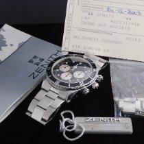 Zenith El Primero Chronograph Zeljezo 40mm Crn Bez brojeva