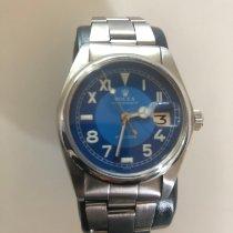 Rolex Oyster Precision Сталь 34mm Синий Римские