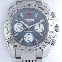 Tudor Sport Chronograph Stahl 40mm Grau Keine Ziffern