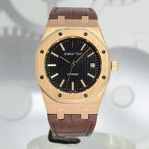 Audemars Piguet Royal Oak Selfwinding Or rose 39mm Noir Sans chiffres France, Cannes