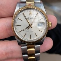 Rolex Oyster Perpetual Date Золото/Cталь 34mm Cеребро Без цифр