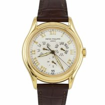 Patek Philippe Yellow gold Automatic Champagne Roman numerals 37mm pre-owned Annual Calendar