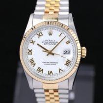 Rolex Datejust Acero y oro 36mm Blanco Romanos