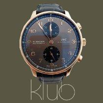IWC Portuguese Chronograph Ruzicasto zlato 40.9mm Siv Arapski brojevi