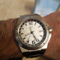 IWC Ingenieur Dual Time begagnad Vit Datum GMT Stål