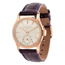 Patek Philippe Calatrava Rose gold 28mm Silver No numerals