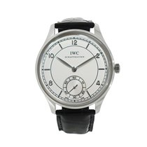 IWC Platinum Manual winding Silver Arabic numerals 44mm pre-owned Portuguese Hand-Wound