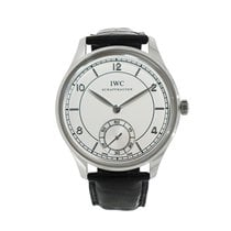 IWC Portuguese Hand-Wound Platinum 44mm Silver Arabic numerals United States of America, Connecticut, Greenwich