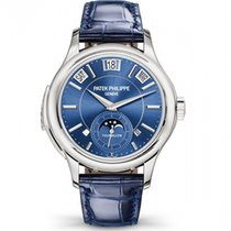 Patek Philippe Minute Repeater Perpetual Calendar White gold 41mm Blue No numerals