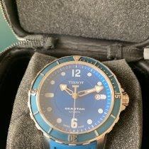 Tissot Seastar 1000 occasion 42mm Bleu Date Affichage des jours Caoutchouc