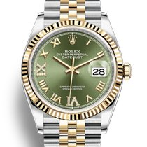 Rolex Or jaune Remontage automatique Vert nouveau Datejust II