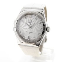 Omega Constellation Quartz Acier 35mm Blanc Sans chiffres