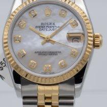 Rolex Lady-Datejust Золото/Cталь 31mm Перламутровый Без цифр