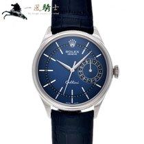 Rolex Cellini Date Oro blanco 39mm Azul
