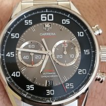 TAG Heuer Carrera Calibre 36 pre-owned Grey Chronograph Double chronograph Flyback Date Steel