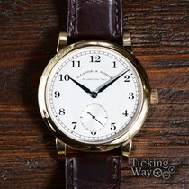 A. Lange & Söhne Rose gold Manual winding Silver Arabic numerals 40mm pre-owned 1815