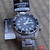 Seiko Prospex Steel 52,6mm Black No numerals