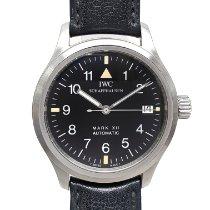 IWC Pilot Mark occasion 36mm Noir Date Cuir