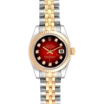 Rolex Lady-Datejust Staal 26mm Rood