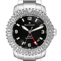 Blancpain Fifty Fathoms pre-owned 40.5mm Black Date GMT Steel