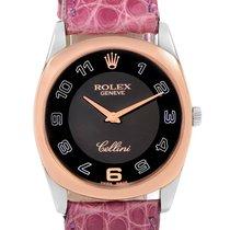 Rolex Cellini Danaos Or rose 34mm Noir Arabes