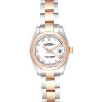 Rolex Lady-Datejust Сталь 26mm Белый Римские
