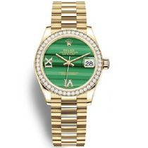 Rolex Datejust Yellow gold 31mm Green