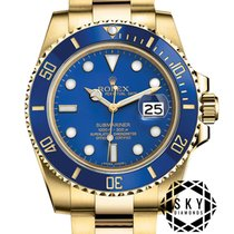 Rolex Yellow gold Automatic Blue Arabic numerals 40mm new Submariner Date