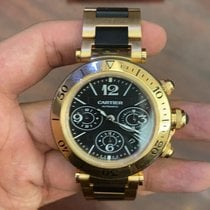Cartier Pasha Seatimer Yellow gold Black Arabic numerals United States of America, Texas, Laredo