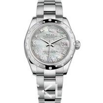 Rolex Or blanc Remontage automatique Nacre 31mm nouveau Lady-Datejust