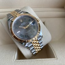 Rolex Datejust Gold/Steel 41mm Grey Roman numerals