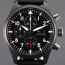 IWC Pilot Chronograph Top Gun Ceramika 44.5mm Czarny Arabskie