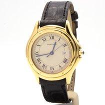 Cartier Cougar Or jaune 32,5mm Champagne Romain France, Paris