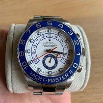 Rolex Yacht-Master II Acél 44mm Fehér Számjegyek nélkül