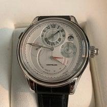 몽블랑 화이트골드 수동감기 샴페인색 숫자없음 47mm 중고시계
