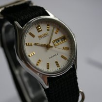Seiko 5 Steel 34,5mm White No numerals