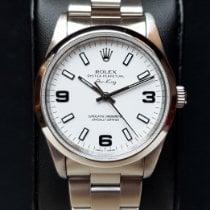 Rolex Acero Automático Blanco Arábigos 34mm usados Air King Precision