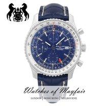 Breitling Navitimer GMT nuevo Automático Reloj con estuche y documentos originales A24322121C2P1