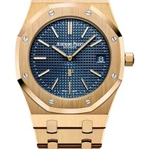 Audemars Piguet Royal Oak Jumbo Zuto zlato 39mm Plav-modar